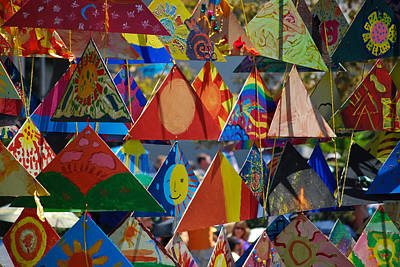 Abstract In Triangles Art Print by Peggy Zachariou