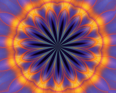 Digital Art - Abstract Kaleidoscope by David Lane