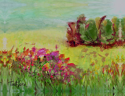 Abstract Painting - Abstract Landscape Five by Lynne Taetzsch