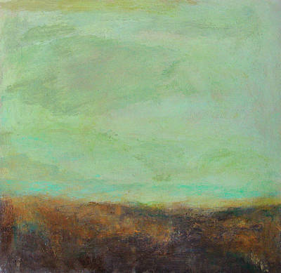 - Abstract Landscape - Jade Sky by Kathleen Grace