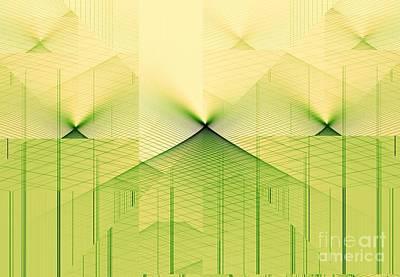 Digital Art - Abstract Landscape by Yali Shi