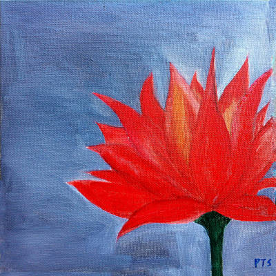 Abstract Lotus Art Print by Prachi  Shah