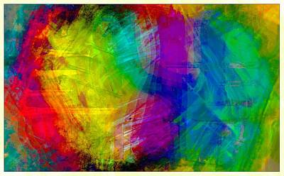 Digital Art - Abstract Multi Colors by Carrie OBrien Sibley