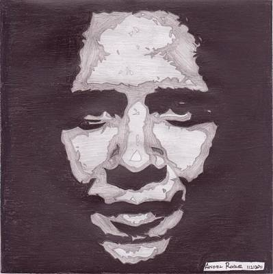 Abstract Obama Original by Angel Roque