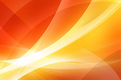 Beam Digital Art - Abstract Orange And Red Background by Nattapon Wongwean