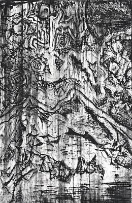 Creepy Mixed Media - Abstract Print by Jera Sky