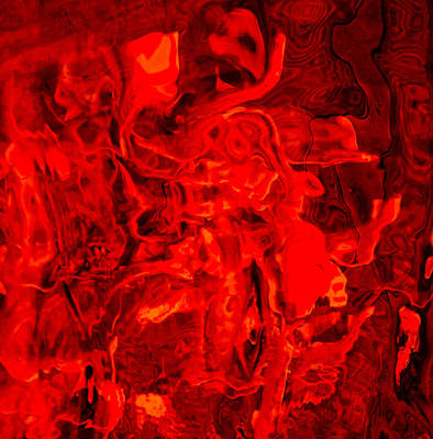 Photograph - Abstract Red1 by Chua  ChinLeng