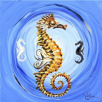 Abstract Sea Horse Art Print by J Vincent Scarpace