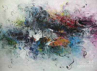 Abstract Seascape00117 Art Print by Seon-Jeong Kim