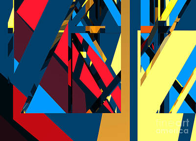 Pop Art - ABSTRACT Sine L 19 by Russell Kightley