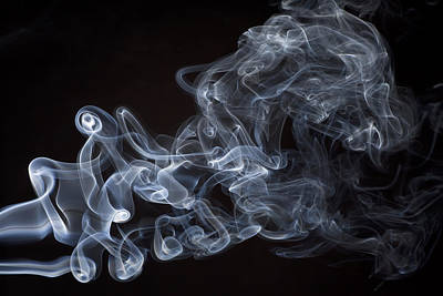 Burning Digital Art - Abstract Smoke Running Horse by Setsiri Silapasuwanchai