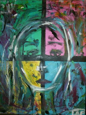 Painting - Abstract Sorrow by Lee Farley