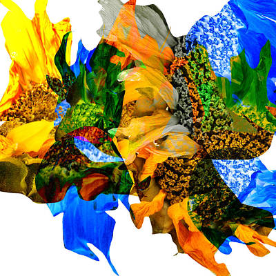 Abstract Sunflowers No 428 Art Print