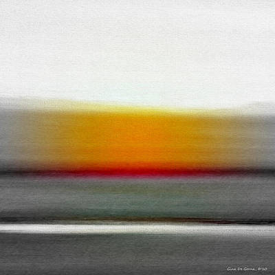 Painting - Abstract Sunset 667 by Gina De Gorna