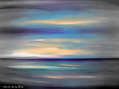 Painting - Abstract Sunset 77 by Gina De Gorna