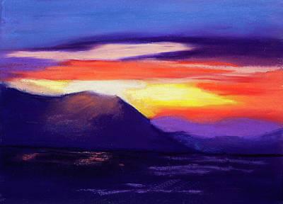 Abstract Sunset Original