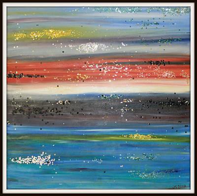 Abstract Sunset Art Print by Joanna Georghadjis