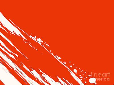Abstract Swipe Art Print by Pixel Chimp