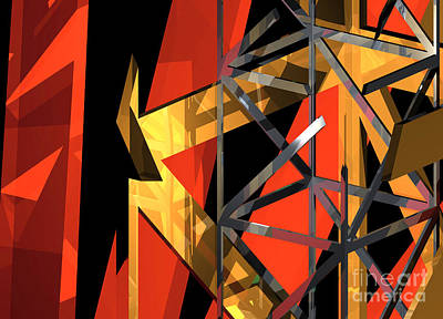 Digital Art - Abstract Tan 1 by Russell Kightley