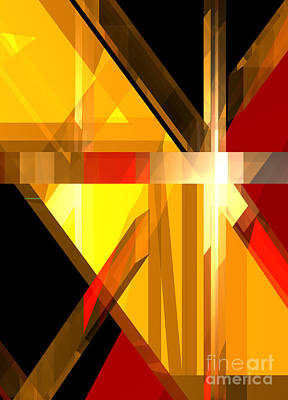 Digital Art - Abstract Tan 5 by Russell Kightley