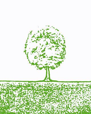 Abstract Tree By Shawna Erback Print by Shawna Erback