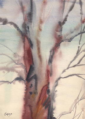 Abstract Tree Art Print by Linda Eades Blackburn