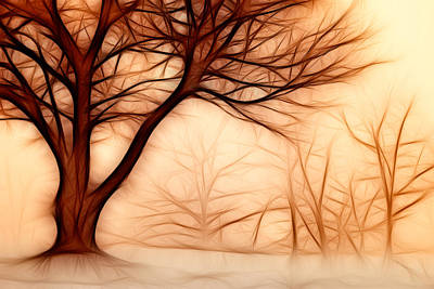 Painting - Abstract Trees by Dan Carmichael