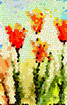 Painting - Abstract Tulips Modern Art by Ginette Callaway