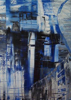 Painting - Abstract W2 by Gunter  Tanzerel