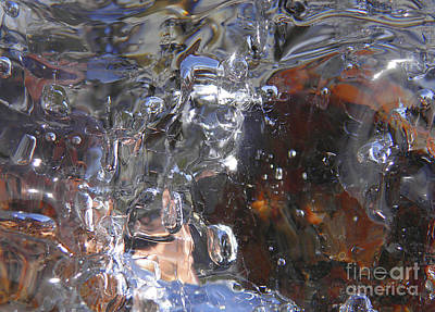 Reflection Photograph - Abstract Waterfall B by Sami Tiainen