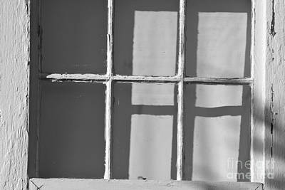 Abstract Window In Light And Shadow Art Print by David Gordon