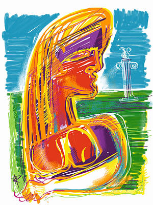 Abstract Woman Art Print by Russell Pierce