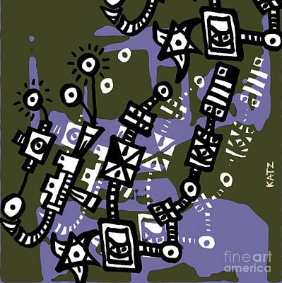 Abstraction Two Art Print by Daniel Katz
