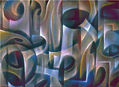 Pastel - Abstraction2 1984 by Glenn Bautista