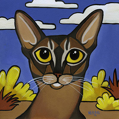 Painting - Abyssinian  by Leanne Wilkes