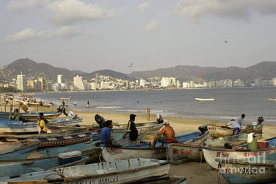 Photograph - Acapulco Fishermen by John  Mitchell