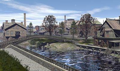 Cs5 Digital Art - Accademia Idustrial Canal by Robin Meade