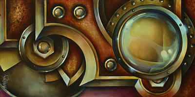 Pulley Painting - 'access Denied' by Michael Lang