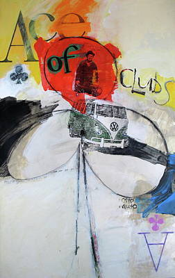 Art Print featuring the painting Ace Of Clubs 36-52 by Cliff Spohn