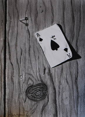Drawing - Ace Of Spades by Brian Hustead