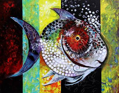 Fish Abstract Painting - Acidfish 70 by J Vincent Scarpace