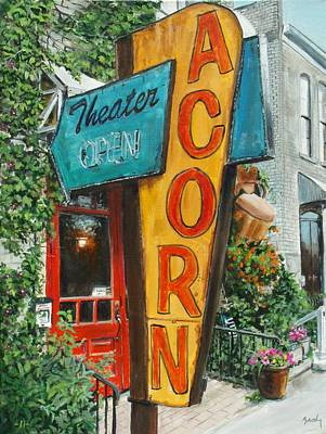 Painting - Acorn Theater by William Brody