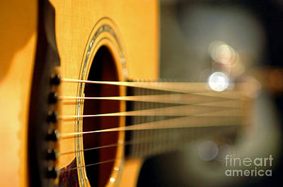 Acoustic Guitar Art Print by Gib Martinez