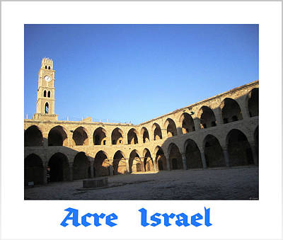 Photograph - Acre Clock Tower   Israel by John Shiron