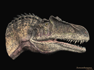 Digital Art - Acrocanthosaurus by Walter Colvin