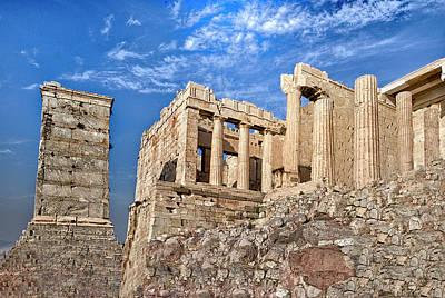 Reconstruction Digital Art - Acropolis - Propylea by Gary Little