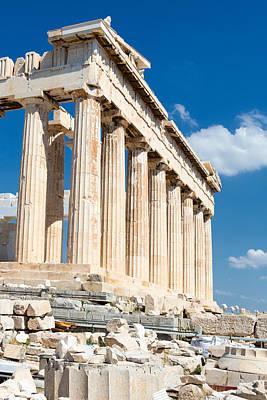 Agios Isidoros Photograph - Acropolis Parthenon 3 by Emmanuel Panagiotakis