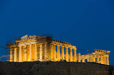 Photograph - Acropolis View In Greece by Johnny Sandaire
