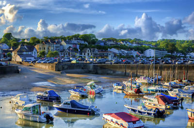Photograph - Across Saundersfoot Harbour Painted by Steve Purnell