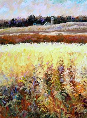 Across The Cornfield Art Print by Bonnie Goedecke